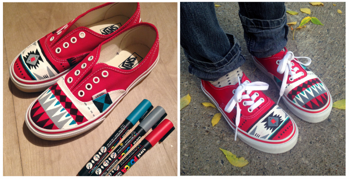 Chaussures Vans peintes à la main | Elise Gravel