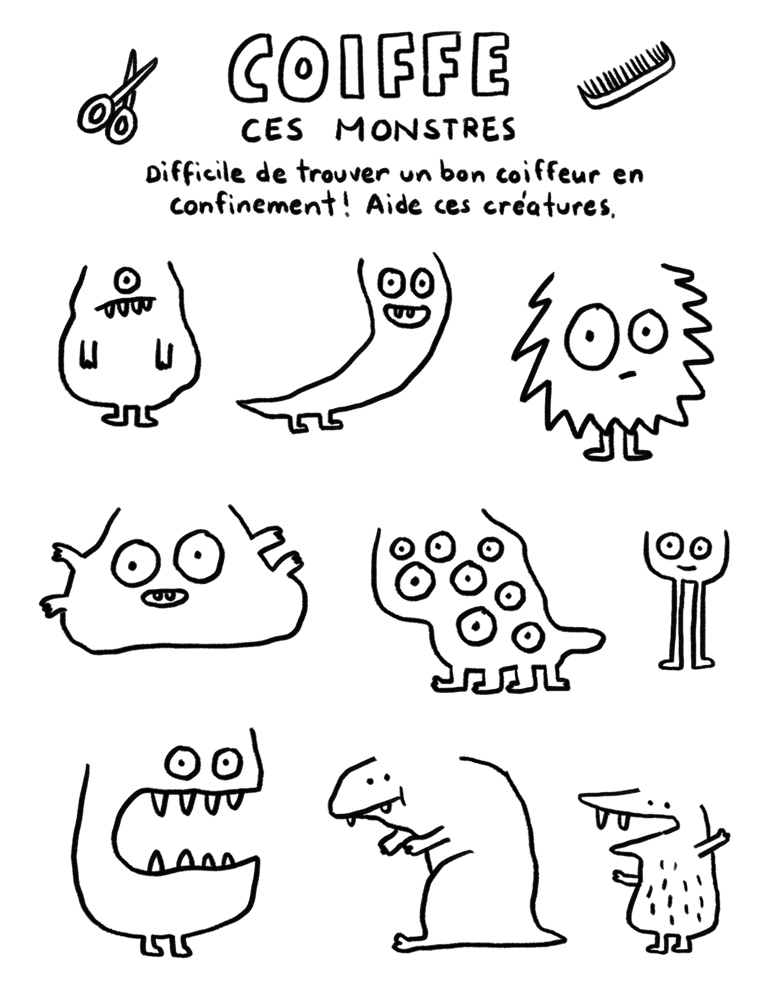 Coiffe ces monstres