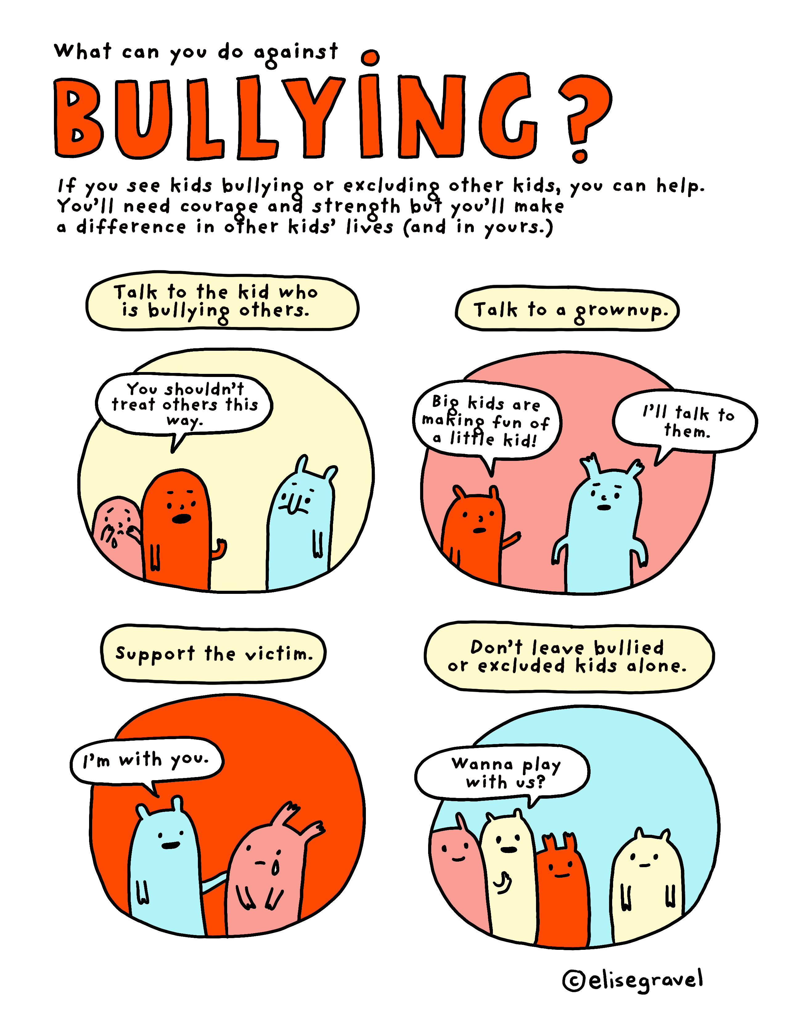 graphic relating to Printable Stuff identify What can on your own do towards bullying? Elise Gravel