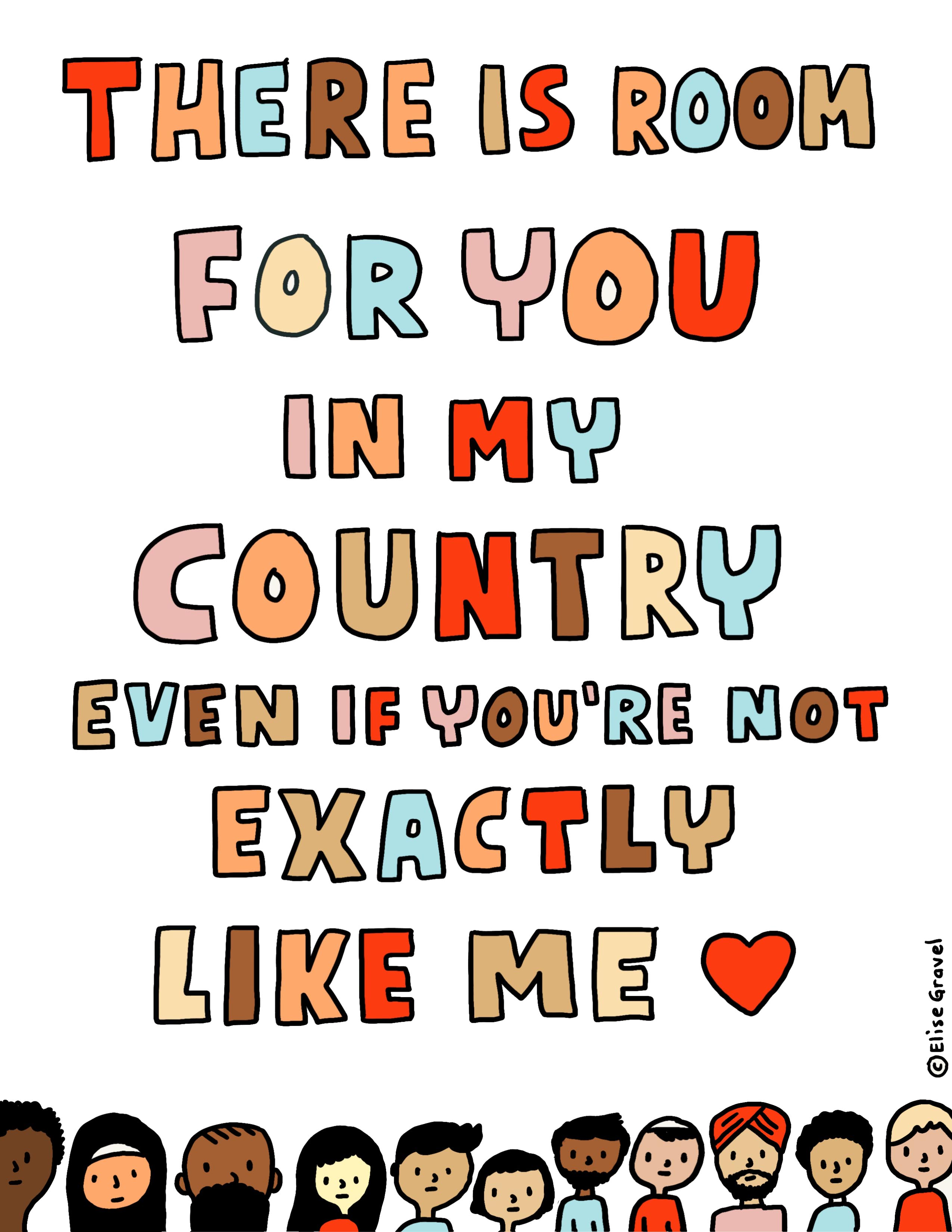 There is room for you in my country