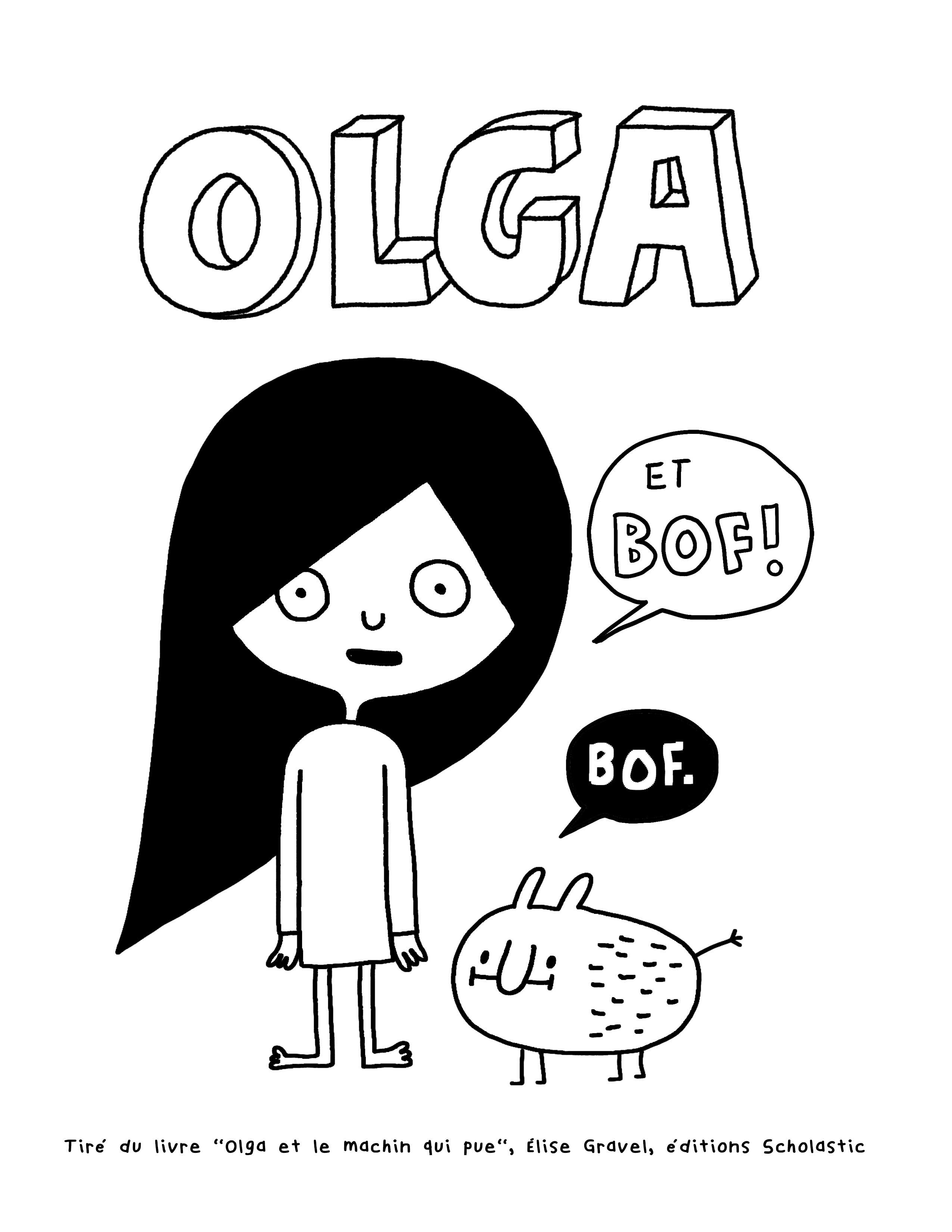 Olga à colorier