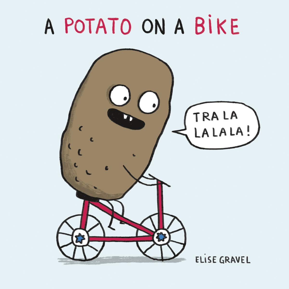 A potato on a bike